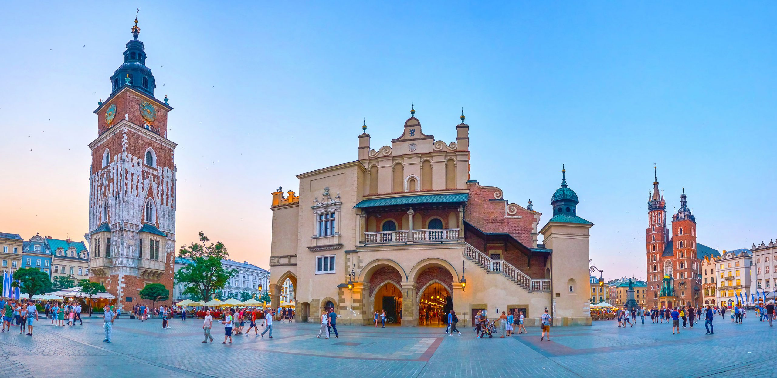 Krakow bysentrum markedsplassen