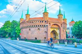 Brama Florianska Krakow Polen